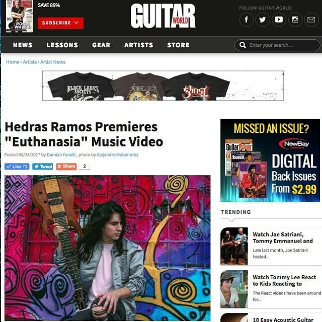 Really excited and happy to appear on guitarworldmagazines article abouthellip